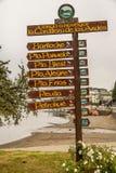 Puerto Montt Sign Stock Photo