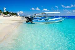 Puerto Morelos beach in Mayan Riviera Stock Image