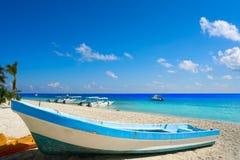 Puerto Morelos beach in Mayan Riviera Stock Photography