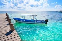 Puerto Morelos beach in Mayan Riviera Royalty Free Stock Photo