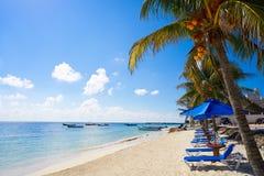 Puerto Morelos beach in Mayan Riviera Royalty Free Stock Image