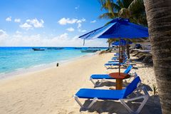 Puerto Morelos beach in Mayan Riviera stock photo