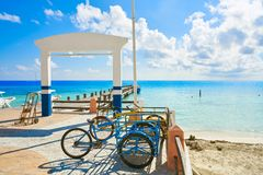 Puerto Morelos beach in Mayan Riviera Royalty Free Stock Images