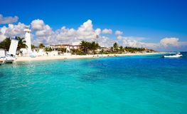 Puerto Morelos beach in Mayan Riviera royalty free stock photo