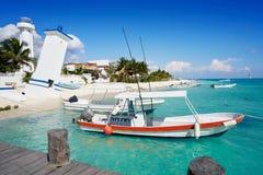 Puerto Morelos beach in Mayan Riviera Stock Photos