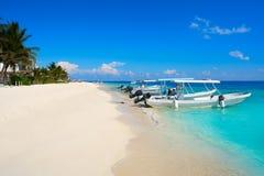 Puerto Morelos beach in Mayan Riviera Stock Images