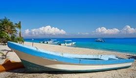Puerto Morelos beach in Riviera Maya Stock Photo