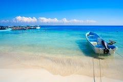 Puerto Morelos beach in Riviera Maya Royalty Free Stock Photos