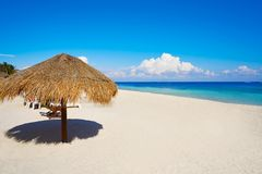Puerto Morelos beach in Riviera Maya stock photography