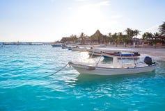 Puerto Morelos beach in Riviera Maya Stock Image