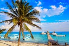 Puerto Morelos beach in Riviera Maya Stock Images