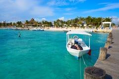 Puerto Morelos beach in Riviera Maya Stock Photos