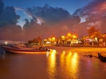 Puerto Morelos beach sunset Riviera Maya Stock Image