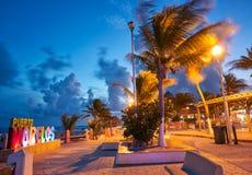 Puerto Morelos beach sunset Riviera Maya Royalty Free Stock Photos