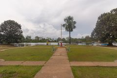 Puerto Nariño, Amazonas,哥伦比亚 免版税图库摄影