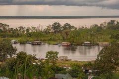 Puerto Nariño, Amazonas, Colombia Fotografia Stock Libera da Diritti