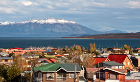 Puerto Natales, Патагония, Чили Стоковая Фотография