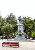 PUERTO NATALES, CHILE - 11 DE ENERO DE 2018: Vista del monumento a Ferdinand Magellan aka Fernando de Magallanes imagen de archivo