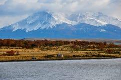 Puerto Natales, nel Cile del sud Fotografia Stock Libera da Diritti