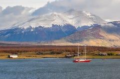 Puerto Natales, nel Cile del sud Fotografie Stock Libere da Diritti