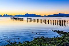 Puerto Natales no Patagonia, o Chile imagens de stock