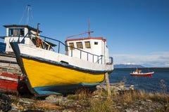Puerto Natales, Patagonia, Chile Stockbild