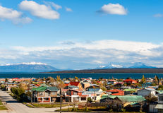 Puerto Natales, Patagonia, Chile. Strait Of Magellan, Puerto Natales, Patagonia, Chile Stock Photos