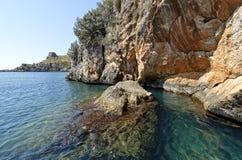 Puerto natural de infreschi Foto de archivo libre de regalías