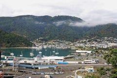 Puerto Nueva Zelanda de Picton Imagen de archivo