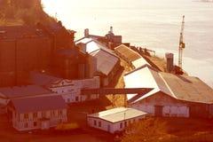 Puerto o una fábrica Fotos de archivo