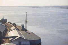 Puerto o una fábrica Foto de archivo libre de regalías