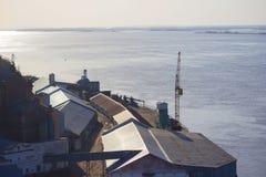 Puerto o una fábrica Fotografía de archivo libre de regalías
