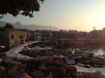 Puerto ocupado Foto de archivo libre de regalías