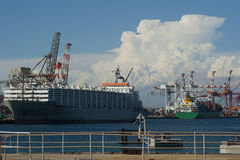 Puerto ocupado Fotos de archivo