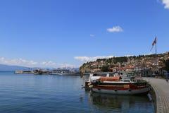 Puerto Ohrid Foto de archivo