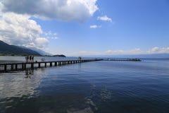 Puerto Ohrid Fotos de archivo libres de regalías