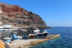 Puerto Oia, Santorini Fotografía de archivo libre de regalías