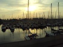 Puerto OlÃmpic en Barcelona Imagenes de archivo