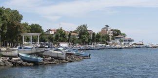 Puerto para los barcos en Pomorie Bulgaria Imagen de archivo libre de regalías