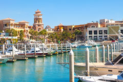Puerto Paraiso centrum handlowe, Cabo San Lucas, Meksyk Zdjęcie Royalty Free