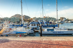 Puerto Paraiso Shopping Mall and Marina Stock Images