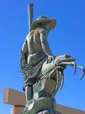 Puerto Penasco,墨西哥-江边雕塑 免版税图库摄影