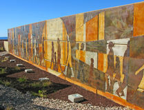 Puerto Penasco, Kunst Mexikos - Ufergegend Stockfotografie