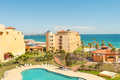 Puerto Penasco, popular holiday destination. Hotels and pristine sandy beach in Puerto Penasco, Mexico Stock Images