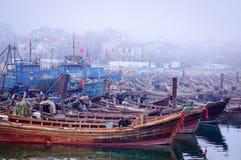 Puerto pesquero Fotografía de archivo libre de regalías