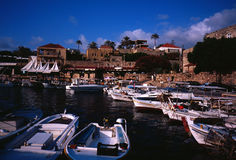 Puerto pesquero antiguo de Byblos Fotografía de archivo libre de regalías
