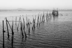 Puerto pesquero antiguo de Carrasqueira Imagen de archivo libre de regalías