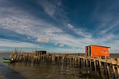 Puerto pesquero antiguo de Carrasqueira Imagen de archivo
