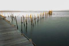 Puerto pesquero antiguo de Carrasqueira Fotos de archivo