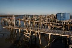 Puerto pesquero antiguo de Carrasqueira Fotografía de archivo